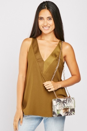 V-Neck Sleeveless Top