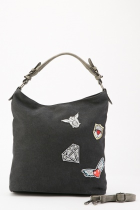 Glittered Applique Handbag