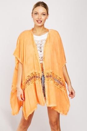 Embroidered Beach Coverup