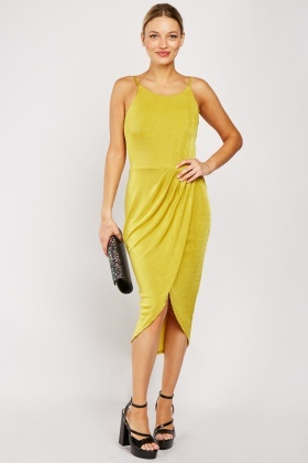 Lime Wrap Midi Dress