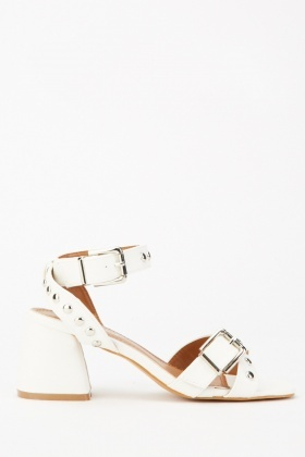 Multi-Buckle Strap Block Heels