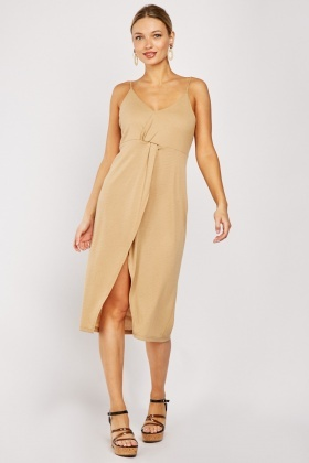 Tie Up Back V-Neck Dress