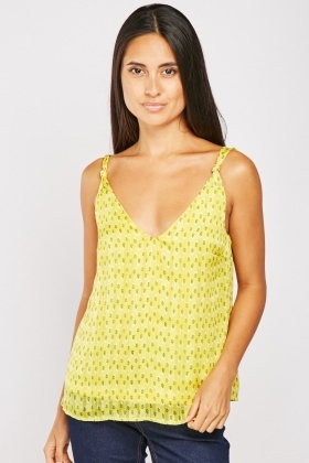 Leaf Printed Camisole Top