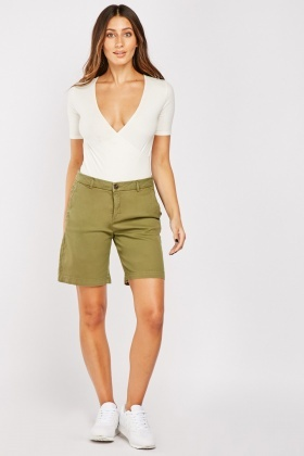 Long Line Textured Shorts