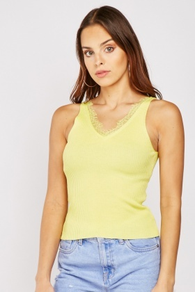 Criss-Cross Back Ribbed Top