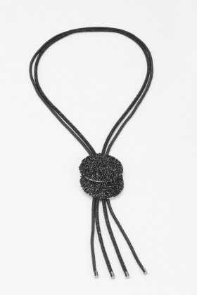 Diamante Contrasted Tassel Necklace