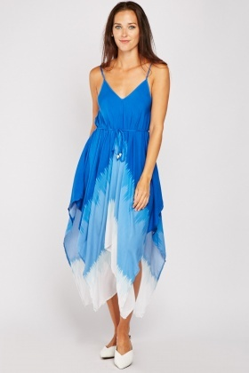 Dip Hem Asymmetric Tent Dress