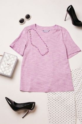 Speckled Short Sleeve Top