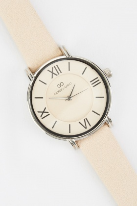 Faux Leather Ladies Strap Watch