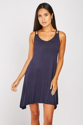 Double Strap Jersey Swing Dress