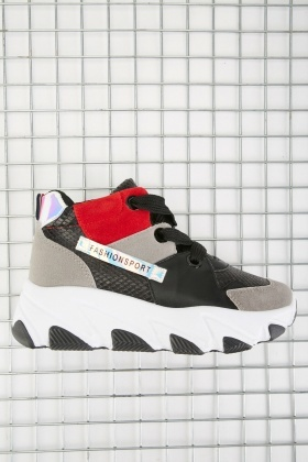 Colour Block Mix Chunky Sneakers