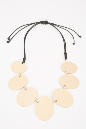 Metal Disc Plate Necklace