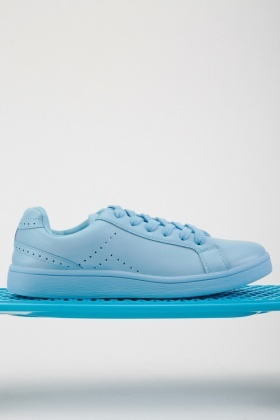 Perforated Faux Leather Sneakers