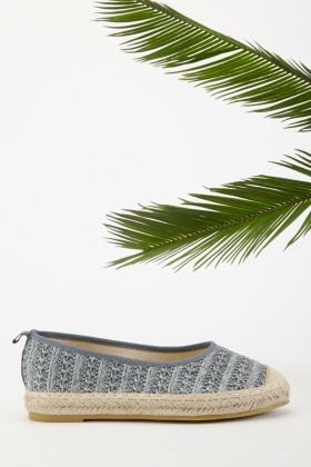 Weaved Straw Slip-On Plimsolls