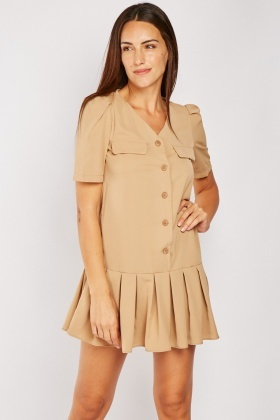 Box Pleated Hem Mini Dress $6.70