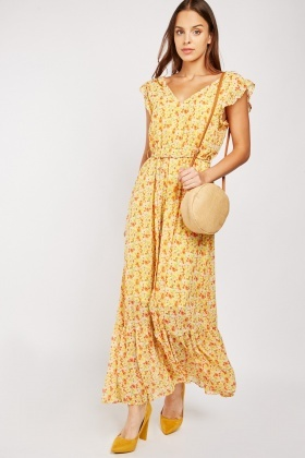V-Neck Printed Maxi Dress $6.70