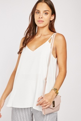 V-Neck White Cami Top $6.70
