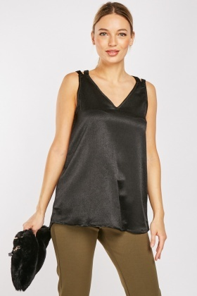 Criss-Cross Back Shimmery Top