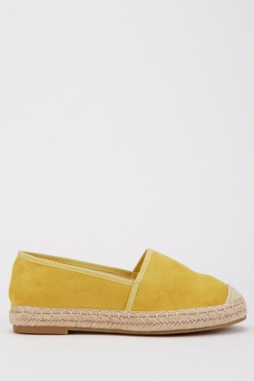 Suedette Espadrille Shoes