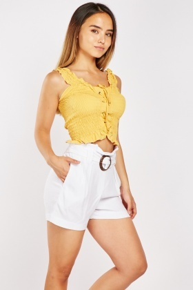 Wooden Ring Belted Shorts $6.70