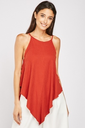 Long Line Rib Cami Top