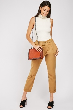 Rolled Up Hem Peg Trousers