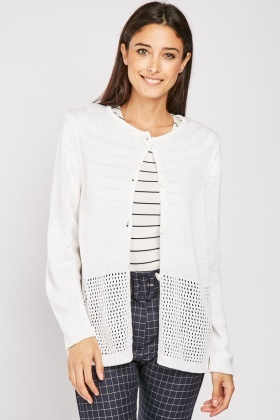 Button Front Chunky Knitted Cardigan