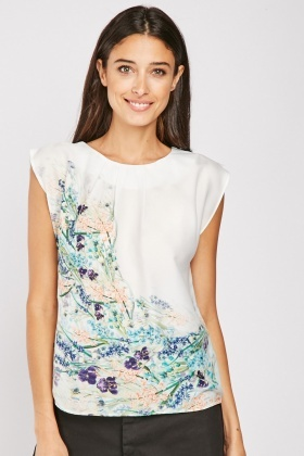 Delicate Flower Print Box Top