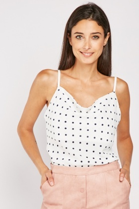Polka Dot Camisole Top