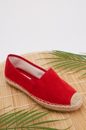 Perforated Platform Espadrilles