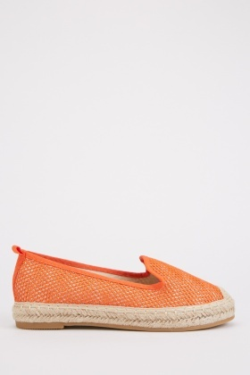 Perforated Contrast Espadrilles