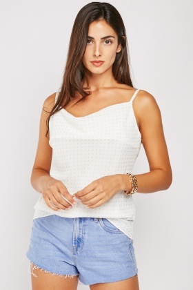 Glittery Dotted Cami Top