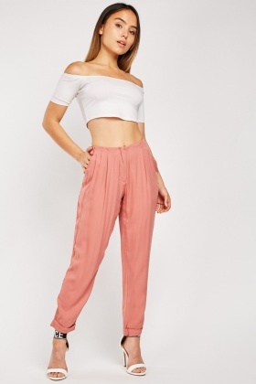 Pleated Panel Tapered trousers