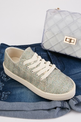 Glittery Striped Trainers