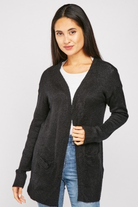 Shimmery Soft Knit Cardigan