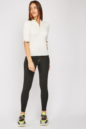 Top Stitched Skinny Jeggings