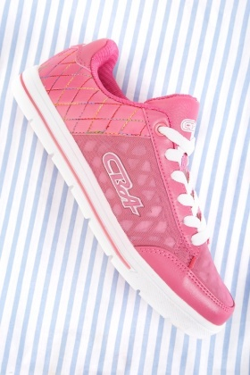 Low Top Quilted Contrast Sneakers