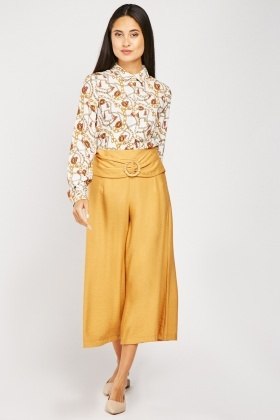 Decorative Buckle Front Culottes