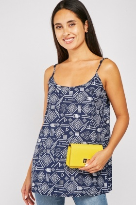 Pack Of 2 Printed Cami Tops