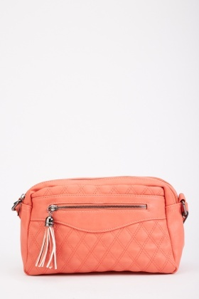 Quilted Tassel Trim Bag