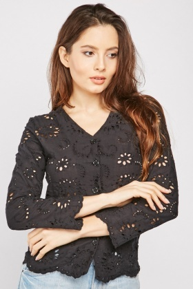 Anglaise Broderie Pattern Blouse $6.70