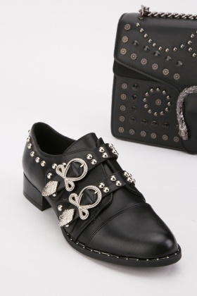 Embellished Buckle Detail Shoes
