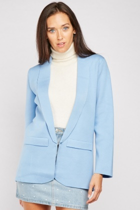 Flap Front Long Line Blazer