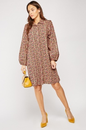 Ditsy Floral Cotton Shirt Dress