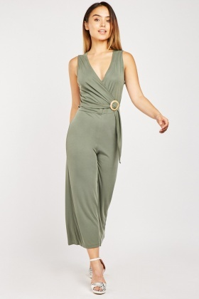 Olive O-Ring Jumpsuit