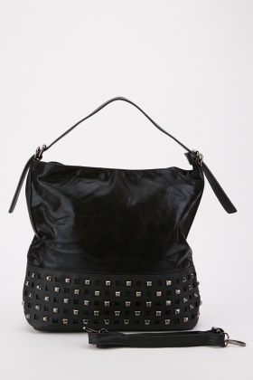 Shimmery Studded Tote Bag