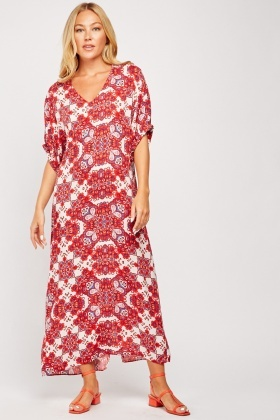 Ethnic Printed Midi Dress
