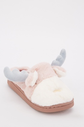 Reindeer Fluffy Slippers