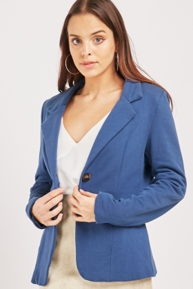 Plain Button Up Blazer