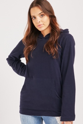 Basic Pouched Pocket Hoodie